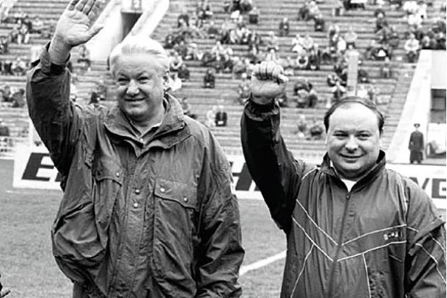 Борис Ельцин и Егор Гайдар