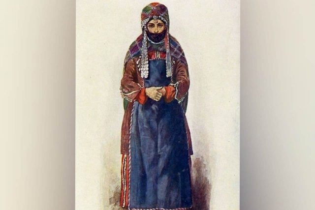 Удинка. Рисунок этнографа Макса Тильке