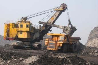 Добыча угля в районе Междуреченска Кемеровской области