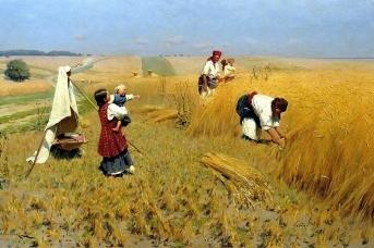 Николай Пимоненко. Жатва на Украине. 1896