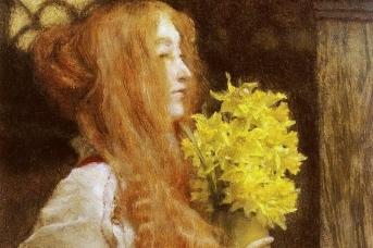Лоуренс Альма-Тадема. Весенние цветы (фрагмент)