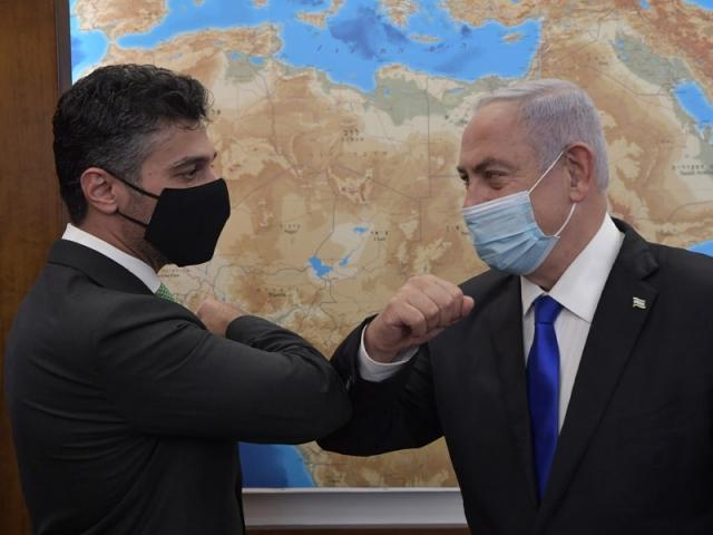 Встреча Биньямина Нетаньяху и Мухаммада Махмуда Фатаха аль-Хайа