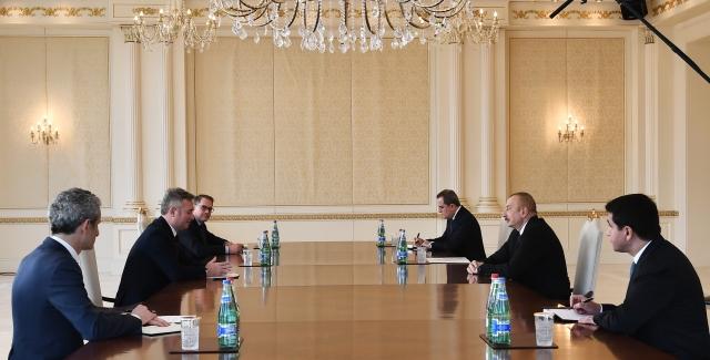 Встреча президента Азербайджана Ильхама Алиева с госсекретарем по европейским вопросам МИД Франции Жан-Батист Лемуаном
