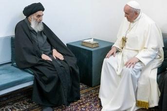 Встреча папы Франциска и великого аятоллы аль-Систани