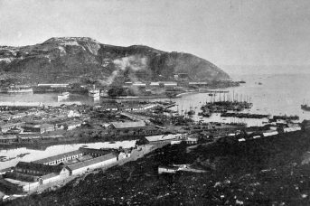 Порт-Артур. Общий вид. Фотография из журнала «Нива». 1904