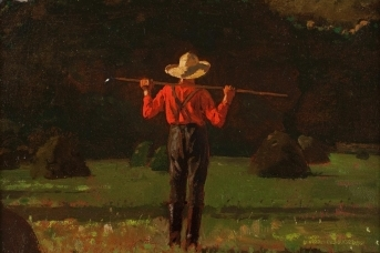 Уинслоу Хомер. Фермер с вилами. 1874