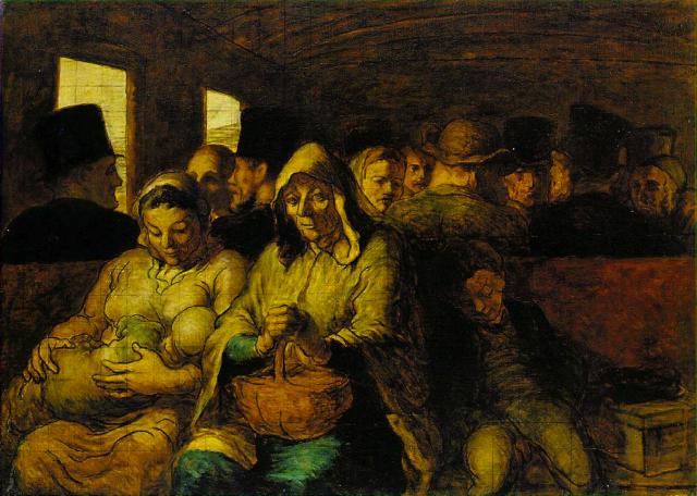 Оноре Домье. Вагон третьего класса. 1863–1865