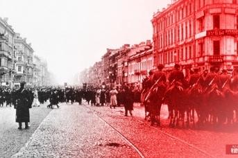 Перед разгоном демонстрации. Петербург