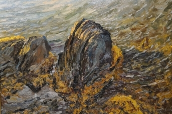 «Прибрежные скалы (берег Новой Земли)». Степан Писахов. 1905-1910 гг