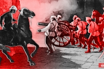 Русская артиллерия пробивает ворота Пекина. Август 1900