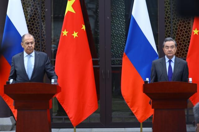 Совместная пресс-конференция по итогам российско-китайских переговоров. 23 марта 2021 года, Пекин