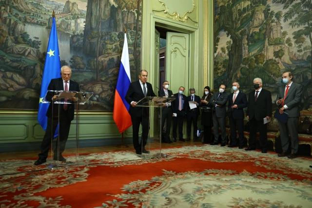 Совместная пресс-конференция по итогам переговоров Сергея Лаврова с Жозепом Боррелем. 5 февраля 2021 года, Москва