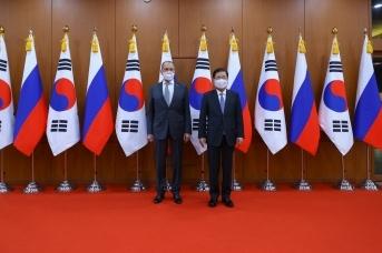 Встреча Сергея Лаврова с Чон Ый Ёном. 25 марта 2021 года, Сеул
