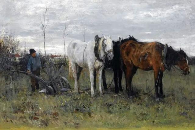 Антон Мауве. Пашущий фермер. 1880-е