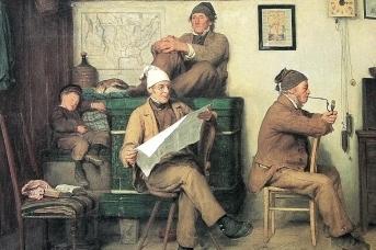 Альберт Анкер. Фермеры и газеты. 1867