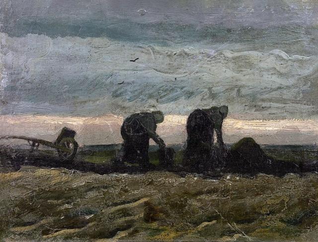 Винсент Ван Гог. Две крестьянки в торфяных полях. 1883