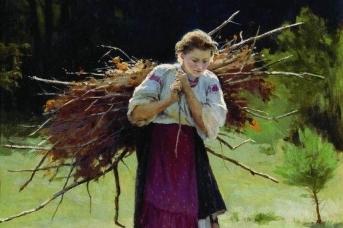 Николай Пимоненко. Из лесу (фрагмент). 1900