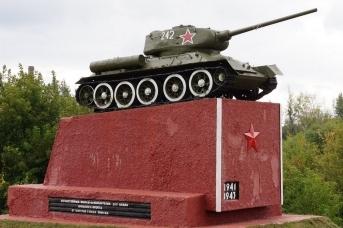 Танк Т-34−85 в Брянске (сс) ДекабрьВолк