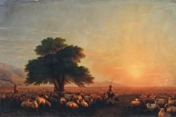Иван Айвазовский. Отара овец (Стадо баранов). 1857