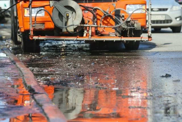 Во время уборки улиц