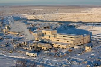 Обогатительная фабрика в Нюрбе, Накынское рудное поле, Якутия