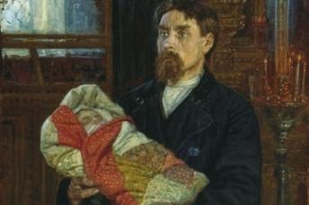 Константин Савицкий. Отец (фрагмент). 1896