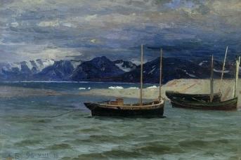 Александр Борисов. Северный пейзаж. 1896