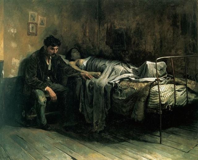Кристобаль Рохас. Бедность. 1886