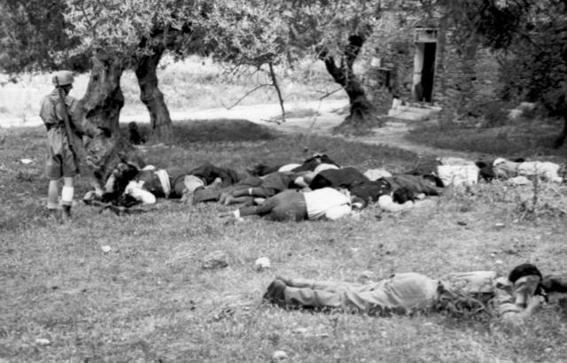 Расстрелянные греческие жители Крита