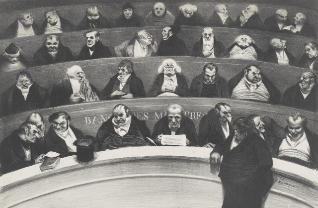 Оноре Домье. Законодательное чрево. 1834