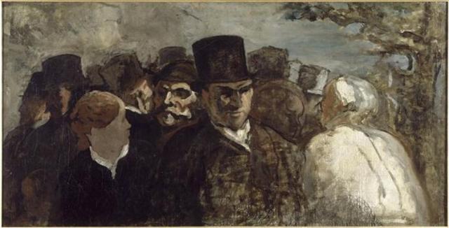 Оноре Домье. Прохожие. 1860
