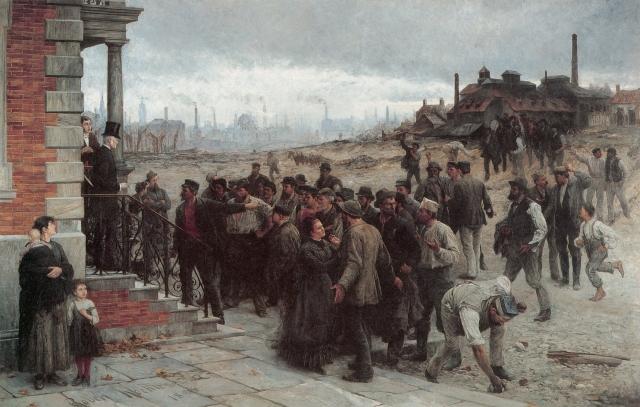 Роберт Келер. Забастовка. 1886