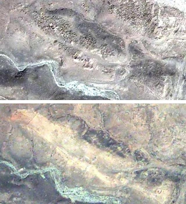 Поле хачкаров в Джульфе, до, и после разрушения