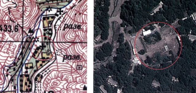 Агулис. Место храма Сурб Степанос на карте 1976 г. (масштаб 1:50000), и сегодня