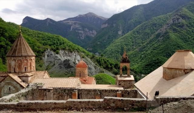 Армянский монастырь Дадиванк в Нагорном Карабахе, расположенный на территории возвращенной Азербайджану по соглашению 10.11 2020