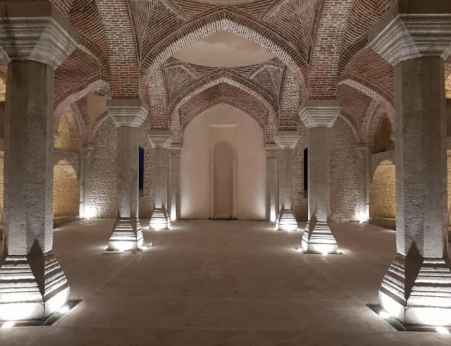 Шуши. Верхняя мечеть Гоар Аги после реставрации армянскими и иранскими специалистами в 2016-2019 г