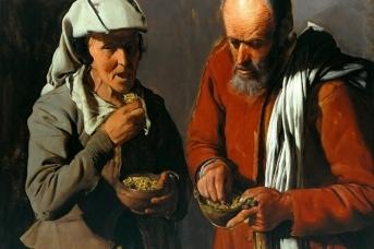 Жорж де Латур. Едоки гороха. 1620-е