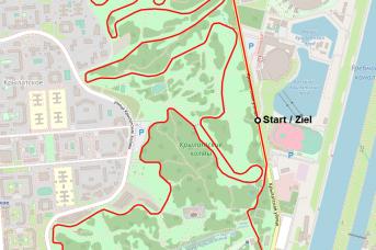 Карта велотрассы. Место старта/финиша соответствует 1980 году. TWsk