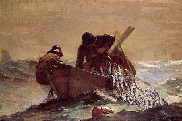 Уинслоу Хомер. Сельд в сетях. 1885