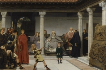 Лоуренс Альма-Тадема. Образование детей Хлодвига. 1861