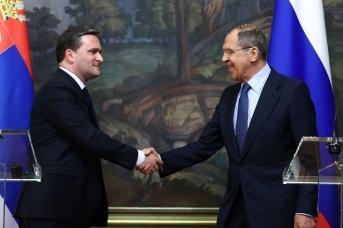 Пресс-конференция Сергея Лаврова и Николы Селаковича по итогам переговоров. 16 апреля 2021 года