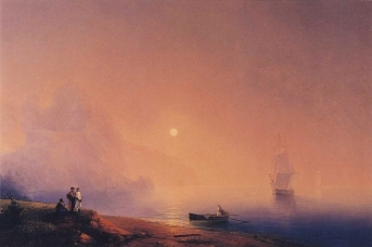 Иван Айвазовский. Крымские татары на берегу моря. 1850
