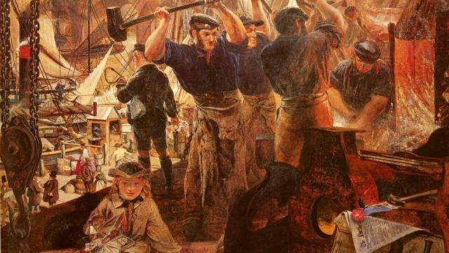Уильям Белл Скотт. Промышленность города Тайн (Tyne). Железо и уголь