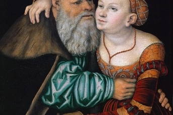 Лукас Кранах Старший. Куртизанка и старик. 1531