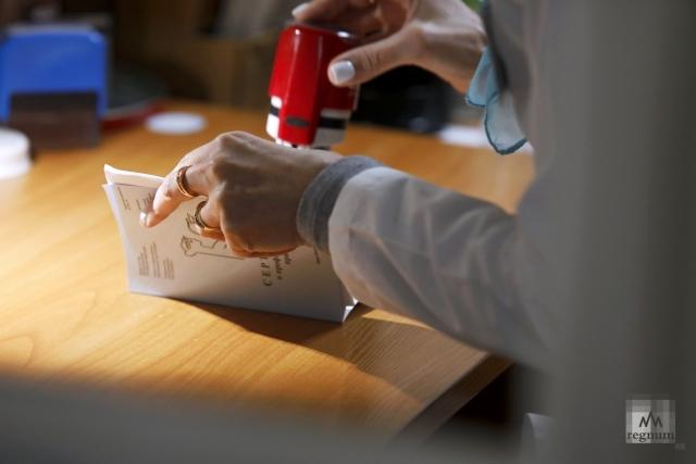 Сертификат о прививках. Дарья Драй © ИА REGNUM