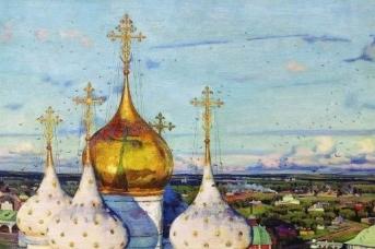 Константин Юон. Купола и ласточки. 1921