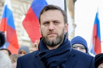 Алексей Навальный на шествии памяти Бориса Немцова
