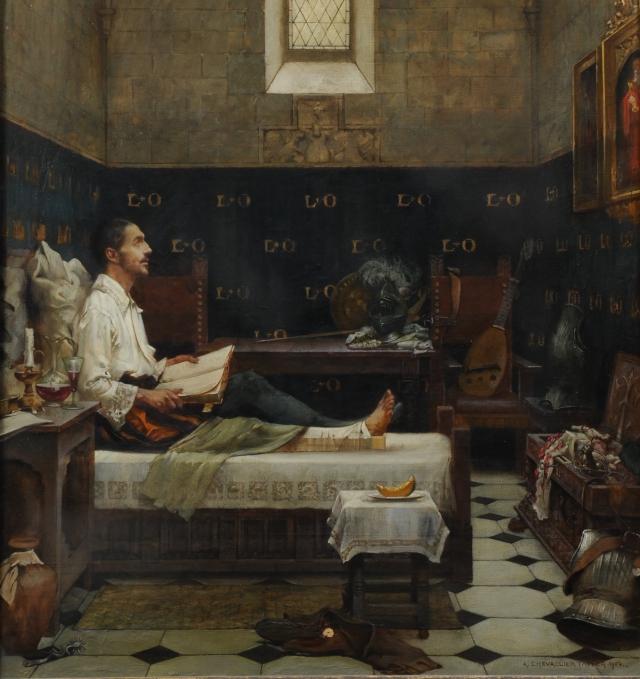 Альберт Шевалье-Тайлер. Жизнь Святого Игнатия. Игнатий ранен в битве при Памплоне. Игнатий Лойола в convalescesе. 1521–1522