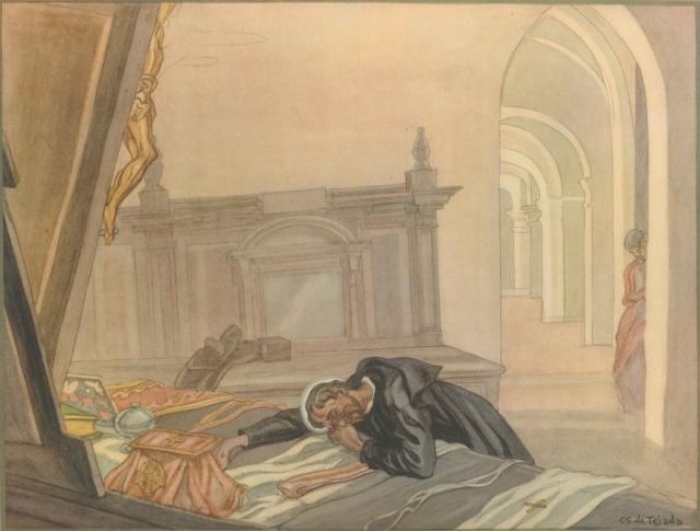 Карлос Саенс де Техада. Жизнь Святого Игнатия Лойолы.  До мессы, Игнатий преодолен со слезами