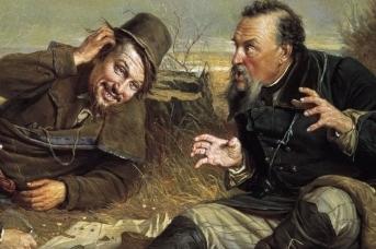 Василий Перов. Охотники на привале. 1871 (фрагмент)